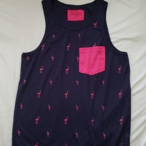 Galaxy by Harvic Dark Navy Pink Tank Top Shirt
